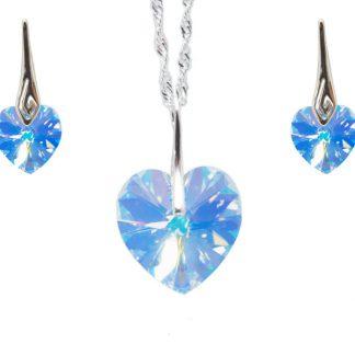 Seti ogrlic in uhanov s kristali Swarovski®