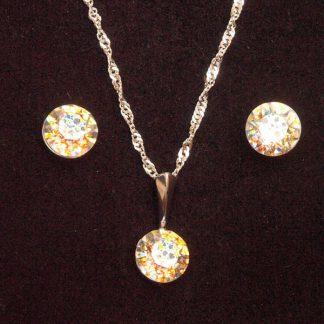 Seti ogrlica in klasični uhani z Rivoli kristali Swarovski®