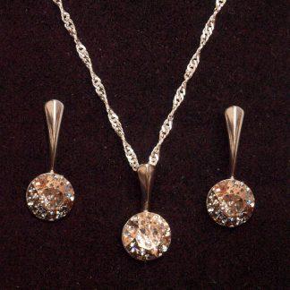 Seti ogrlica in viseči uhani z Rivoli kristali Swarovski®