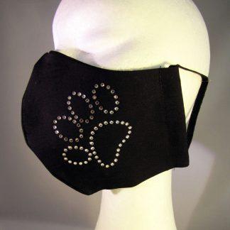 Zaščitna maska Pasja tačka s kristali Swarovski®